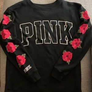 Victoria's Secret PINK Embroidered Roses Sweater